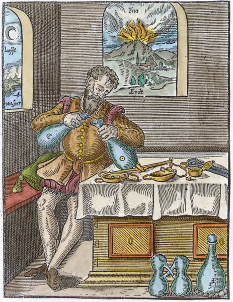 Gravura de Leonard Thurneisser, século XVI.